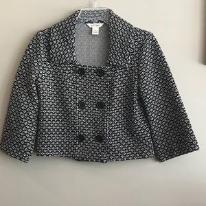 White House Black Market Crop Jacket with Buttons